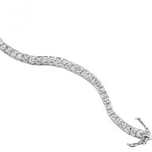 sterling silver square tennis style bracelet