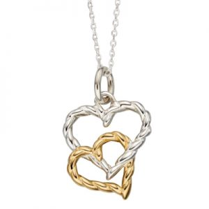 P4520-Double-Interlinked-Gold-and-Silver-Rope-Heart-Sterling-Silver-Pendant