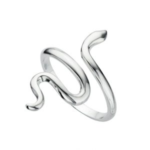 Sterling Silver Smooth Snake Design Ring
