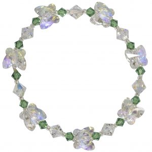 swarovski crystal ab and erinite butterfly bracelet