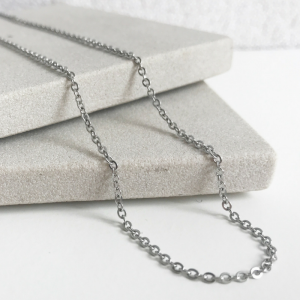 stainless steel memory locket trace chain