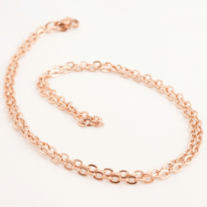 rose gold stainless steel memory locket trace chain