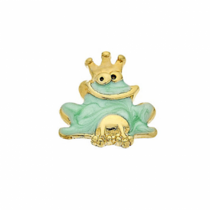 frog prince fairytale memory locket charm