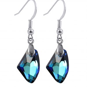 swarovski crystal Bermuda blue galactic earrings